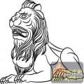 门狮子-矢量图-吉祥门狮5-吉祥门狮图