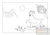 03动物系列-眺望-00068-喷砂玻璃