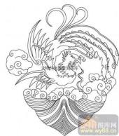 100个中国传统吉祥图-矢量图-凤舞龙飞-B-033-传统图案