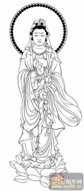 观音-白描图-33佛法无边-电子版观音菩萨
