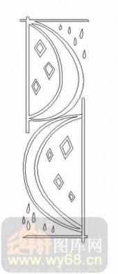 玻璃门-06四扇门(2)-抽象图案-00077