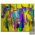 街市 房屋 人物 大树 仓板-精雕图案