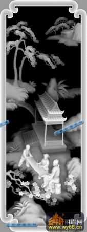 百子图001-童子-hua-百子图精雕灰度图
