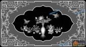 03-花瓶-045-花鸟浮雕灰度图