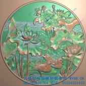 精品鸳鸯戏水圆挂匾图-02