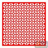 中式镂空装饰001-菱形格纹-中式镂空装饰001-009-玄关隔断