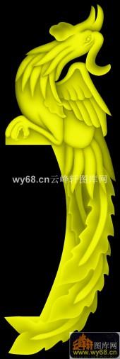 凤凰木梳-精雕雕刻图