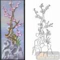 12梅兰竹菊-腊梅-00008-艺术玻璃