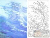 05肌理雕刻系列样图-海浪-00026-艺术玻璃