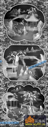 01-农家乐-090-浮雕灰度图