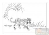 03动物系列-虎瘦雄心在-00062-艺术玻璃图库