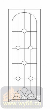 雕刻玻璃图案-12镶嵌-几何花纹-00030