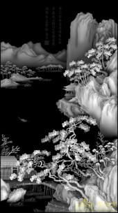 唐伯虎山水4