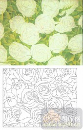 喷砂玻璃-肌理雕刻系列1-白玫瑰-00120