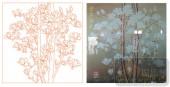 2011设计艺术玻璃刻绘-金玉满堂-装饰玻璃