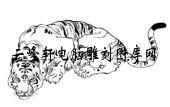 虎1-矢量图-盘龙卧虎-17-电子版虎
