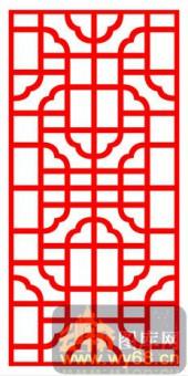 中式镂空装饰001-古风-中式镂空装饰001-026-木雕花镂空隔断