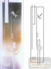 艺术玻璃图库-浮雕贴片-蜻蜓-00087