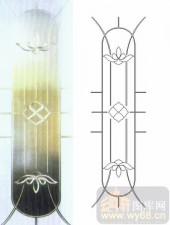 雕刻玻璃图案-浮雕贴片-莲花-00079