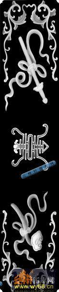 多宝格-八宝寿字纹-002-多宝格雕刻灰度图