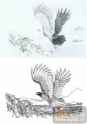 28人及动物-雄鹰展翅-00006-喷砂玻璃