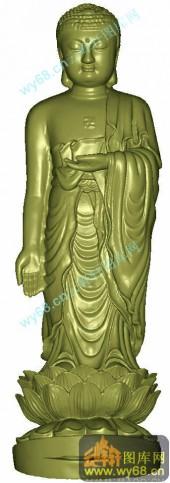 佛祖立像-圆柱雕刻素材