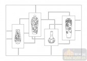 02古文化系列-鹤吊陶母-00005-雕刻玻璃图案