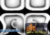 宝座综合-传统花纹-003-宝座雕刻灰度图