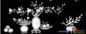 03-石榴多子-054-花鸟灰度图