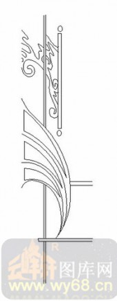 玻璃雕刻-06四扇门(2)-抽象线条-00043