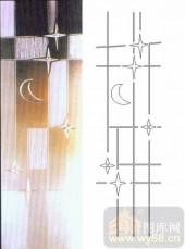 玻璃雕刻-浮雕贴片-星星月亮-00095
