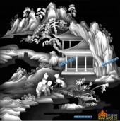 百子图002-童戏-4_2-百子图浮雕灰度图