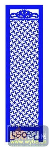 屏风001-抽象花纹-屏风1-010-密度板镂空隔断欧式花型