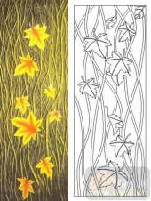 05肌理雕刻系列样图-枫叶-00013-雕刻玻璃图案