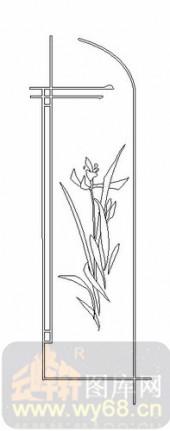 艺术玻璃图-08四扇门(4)-艺术花-00040