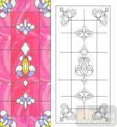 06欧式装饰系列样图-粉色花纹-00009-雕刻玻璃