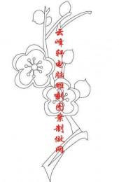 梅兰竹菊-白描图-梅花-mlxj029-梅兰竹菊线描图