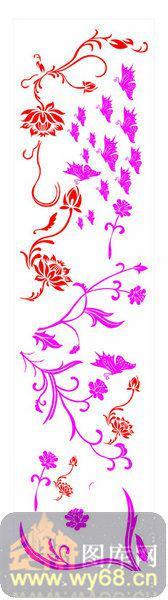 镂空装饰组合式-富贵花-镂空装饰组合式-040-木雕花镂空隔断