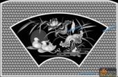 03-鸳鸯-021-花鸟浮雕灰度图