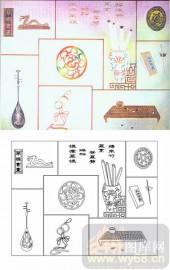 喷砂玻璃-肌理雕刻系列1-琴棋书画-00148