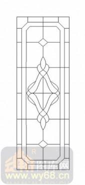 雕刻玻璃-12镶嵌-艺术花纹-00062