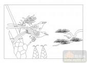 04花草禽鸟-鸟-00011-雕刻玻璃