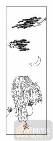 03动物系列-虎狼之威-00054-喷砂玻璃