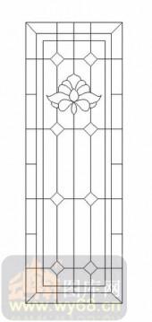 玻璃门-12镶嵌-几何花纹-00058