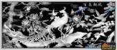 凤凰图-百鸟朝凤-014-龙凤灰度图案