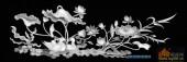 02-鸳鸯荷花-096-花鸟浮雕灰度图