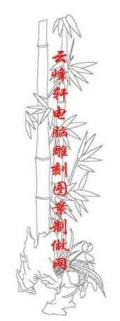 梅兰竹菊-白描图-竹子 兰草-mlxj011-梅兰竹菊雕刻图片