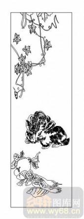 03动物系列-兔趣-00015-玻璃门
