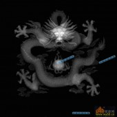 03-龙戏-011-龙凤灰度图