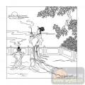 16古典人物-貂蝉拜月-00052-喷砂玻璃